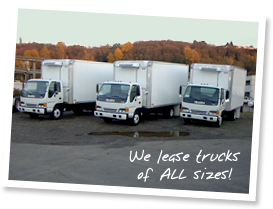 We lease trucks of all sizes