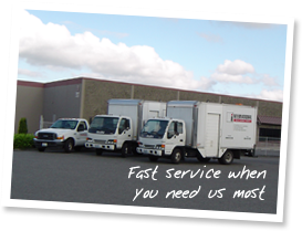 Fast service when you need us most