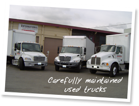 Carefully maintained used trucks